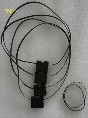 4pcs / बहुत 3 डी प्रिंटर उपकरण भागों Ultimaker 2 के लिए UM2 मूल इंजेक्शन स्लाइडर तांबे की आस्तीन + GT2 610 समय बेल्ट के साथ