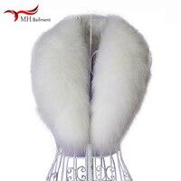 Leather fur collar female winter 100% real fox fur scarf scarves luxury shawl fashion warm ladies soft luxury brand collar women