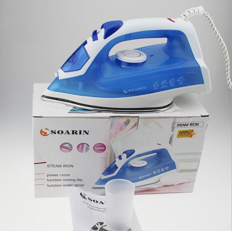 1500w Mini Portable Electric Steam Iron For Clothes Multifunction Adjule Stainless Steel Baseplate Ironing
