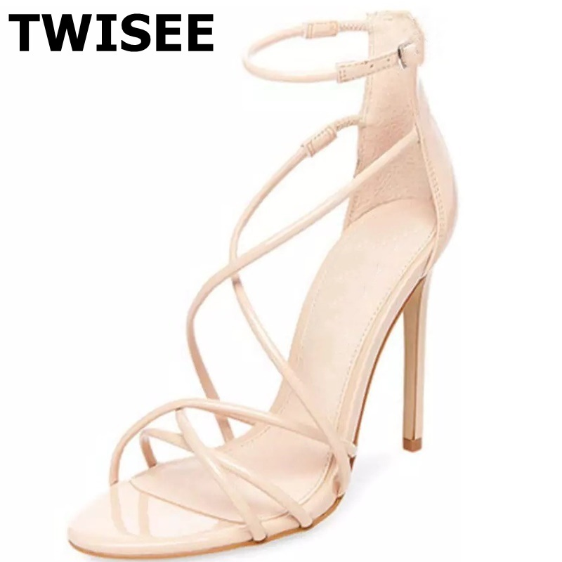 Здесь продается  TWISEE chaussure femme Sandals zapatos mujer new style fashion thin high heels 11 cm woman casual shoes solid pink  Обувь