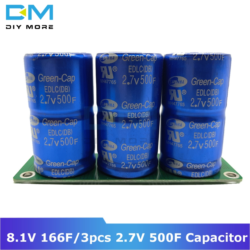 Super Farad Capacitor 8.1V 166F Ultracapacitor 3pcs 2.7V 500F Automotive Rectifier With Protection Board Module