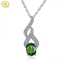 Buy chrome diopsidendant and get free shipping on aliexpress hutang 15ct natural chrome diopside 925 sterling silver aloadofball Images