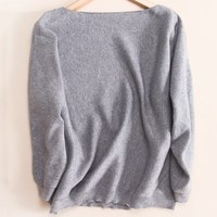 NEW Winter Women S Cashmere Sweater Word Collar Loose Bat Sweater Thick Knit Sweater Female Fashion