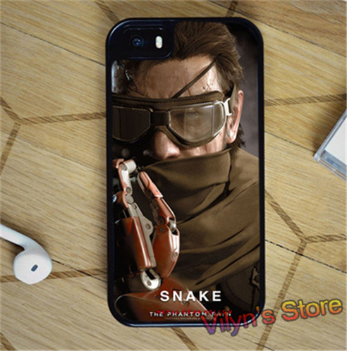 VENOM SNAKE METAL GEAR SOLID V THE PHANTOM PAIN Case cover for iphone 4 4S 5 5S 5C SE 6 plus 6s plus 7 7 plus #ZX3629