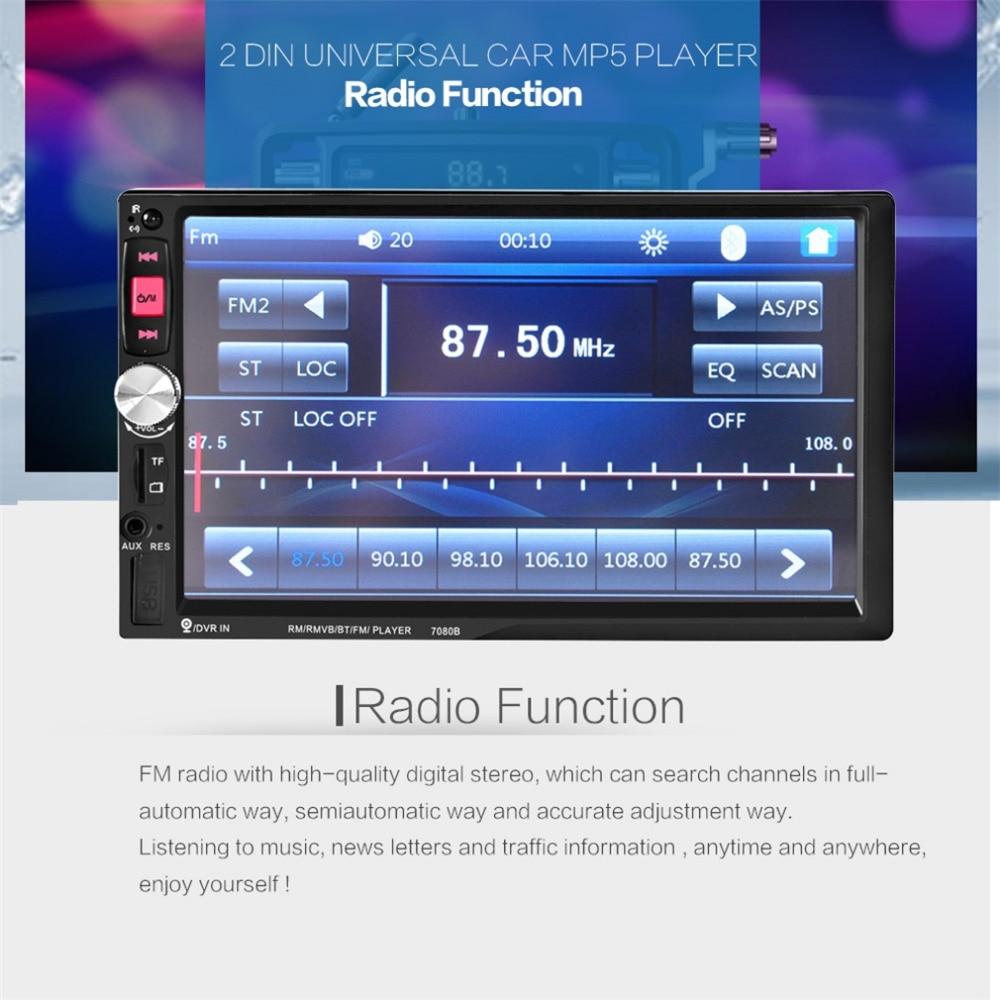 imágenes para Caliente de 7 Pulgadas de Coches Reproductor de Vídeo con Pantalla Táctil de ALTA DEFINICIÓN Bluetooth Estéreo Radio de Coche MP3 MP4 MP5 USB Audio Auto electrónica
