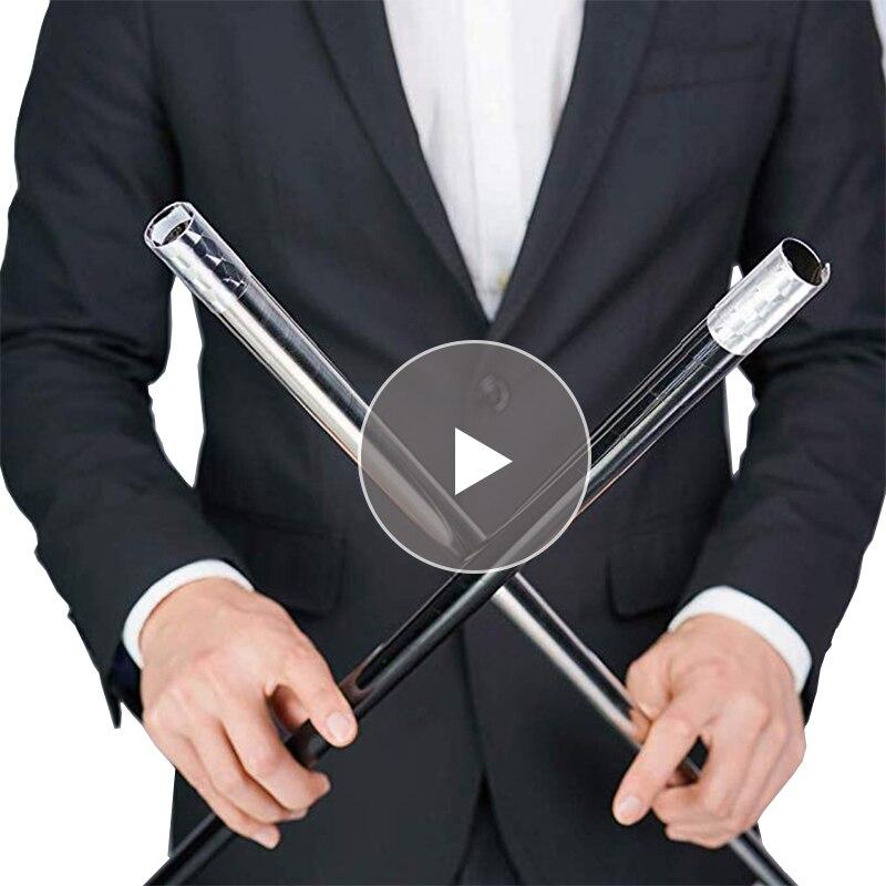 Outdoor EDC Metal Magic Telescopic Stick Rod Martial Arts Magic Pocket Car Anti-wolf Steel Wand Elastic Stick