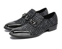 Мужские модные повседневные кожаные модельные туфли без шнуровки с металлическим носком из натуральной кожи, Бесплатная доставка