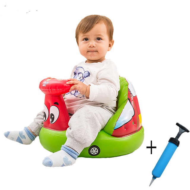 New 2017 Cartoon Inflatable baby bath stools babies learn seat baby chair small inflatable sofa portable chair suit 3M to 24M baby anti rollover safety seat portable waist stool children small sofa cartoon plush nursing feeding pillow learn to sit sofa