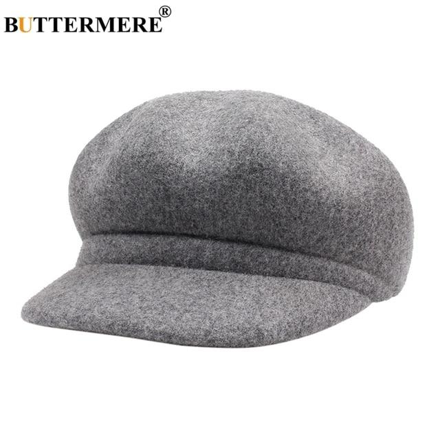 6edddca998918 BUTTERMERE gris vendedor gorras casuales de las mujeres de lana Baker Boy  de Damas Ivy plana