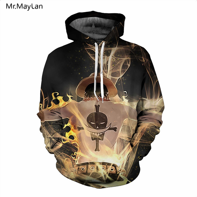 Japan Classic Anime One Piece 3D Print Luffy Hoodies Män Dam - Herrkläder - Foto 3