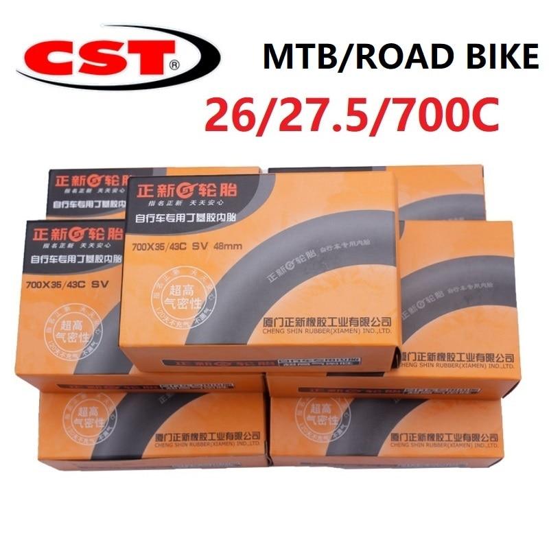 Bike Bicycle Tube 700C 26 / 27.5 Inch MTB Mountain Bike Road Bicycle CST Rubber Inner Tube Schrader Presta Valve AV/FV
