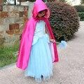 2016 hot Boy Girl Niños de Disfraces de Halloween Bruja púrpura Asistente Manto Vestido de Traje y Sombrero para Niños Niños Niñas