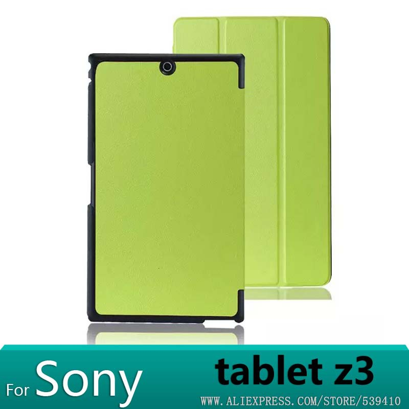 For Sony Z3 Case Magnetic Smart PU Leather Case Cover For Sony Xperia Z3 Compact Tablet Cover Cases +screen Protectors + Stylus sony матовая пленка sony et988 для xperia z3 tablet compact матовая