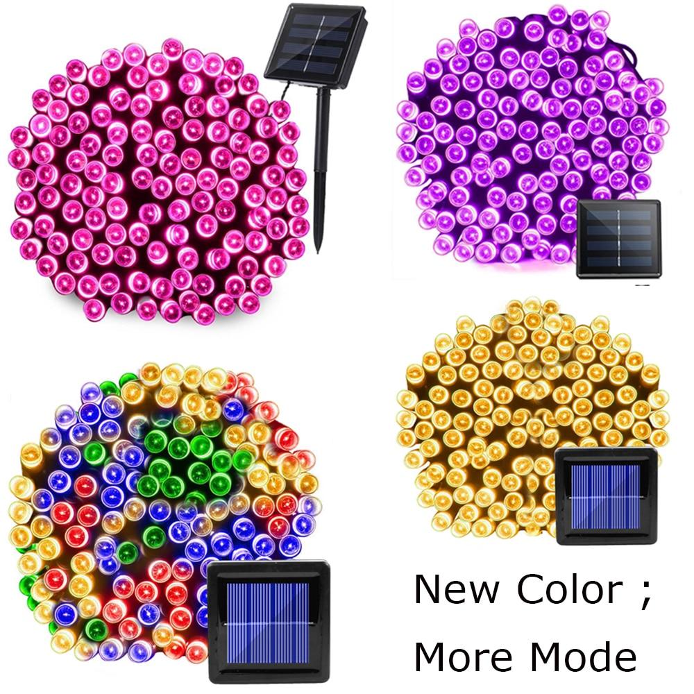 22 m 200 LED lámpara Solar al aire libre impermeable 8 modos jardín Solar Powered Navidad Hada cadena luz calle césped