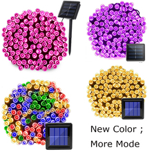 цены 22m 200 LED Solar Lamp Outdoor Waterproof 8 Modes Garden Lights Solar Powered holiday Christmas Fairy String Light Street Lawn