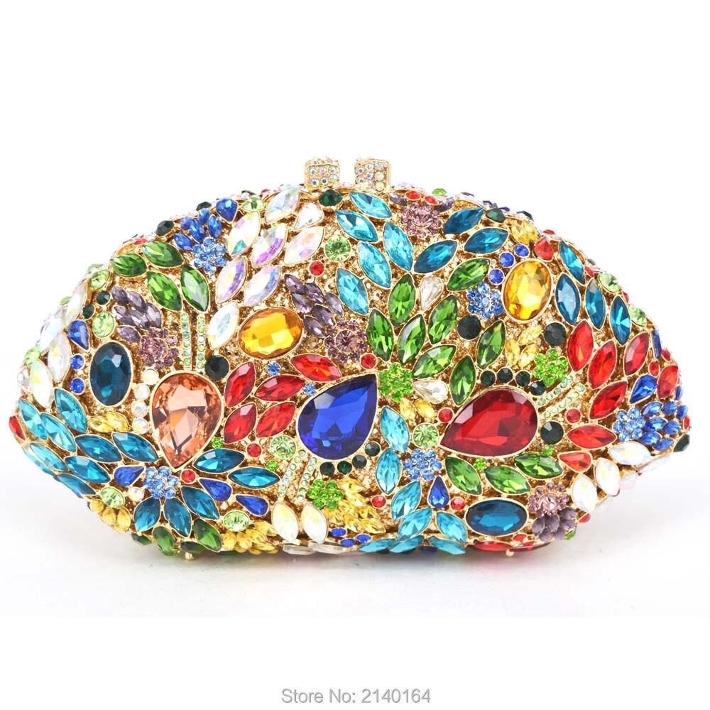 Multicolor Luxury Diamond Clutch Bag rhinestone Evening Purse Party Pochette Lady Feast Banquet Bag Women Wedding