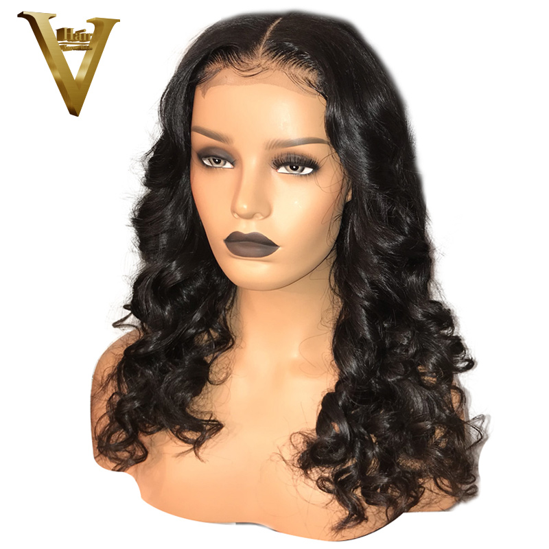 300 Density 13x6 Lace Front Human Hair Wigs For Women Pre Plucked Body Wave Peruvian Remy
