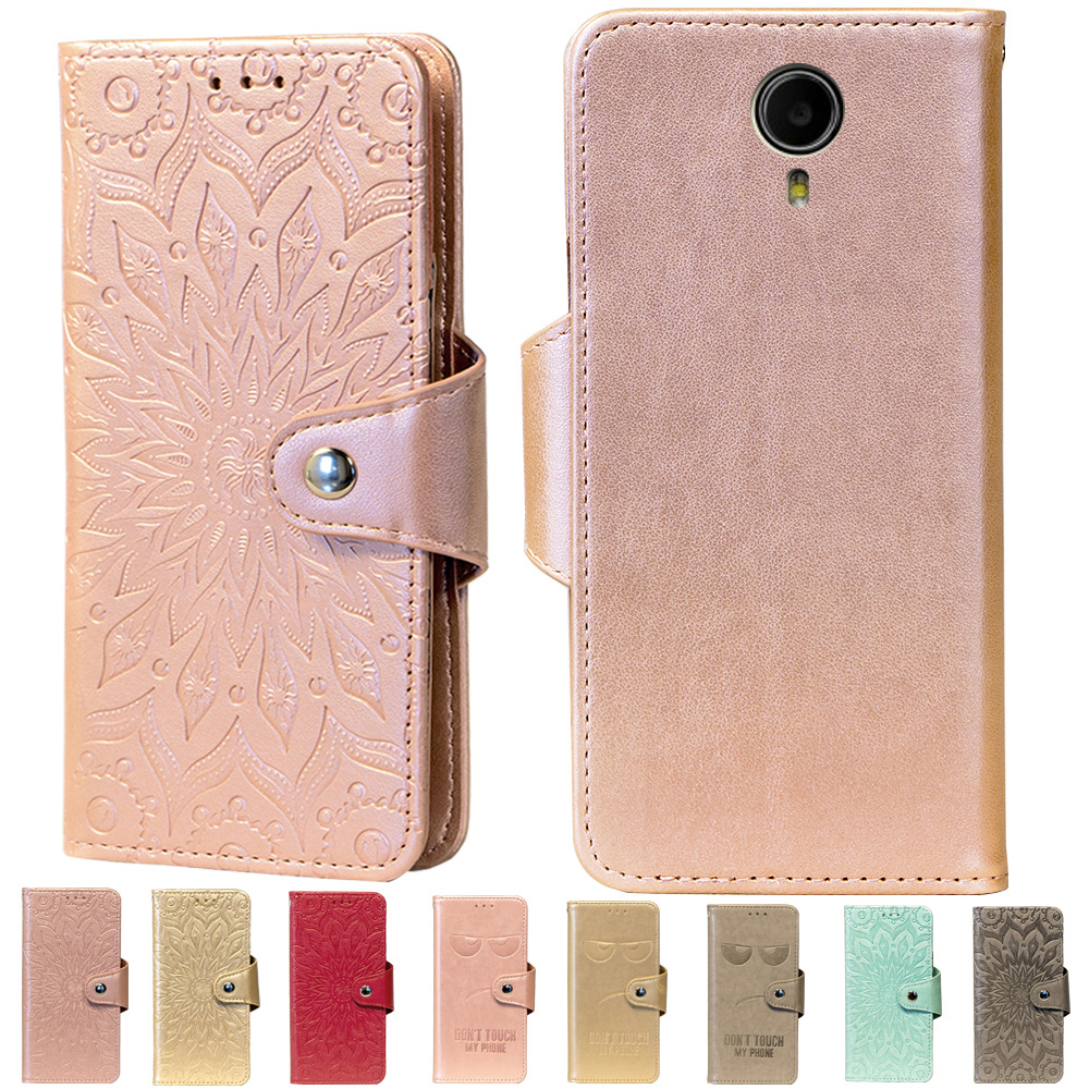 Embossing Stand Flip PU Leather wallet Case Cover For Prestigio Muze X5 LTE Phone Cases