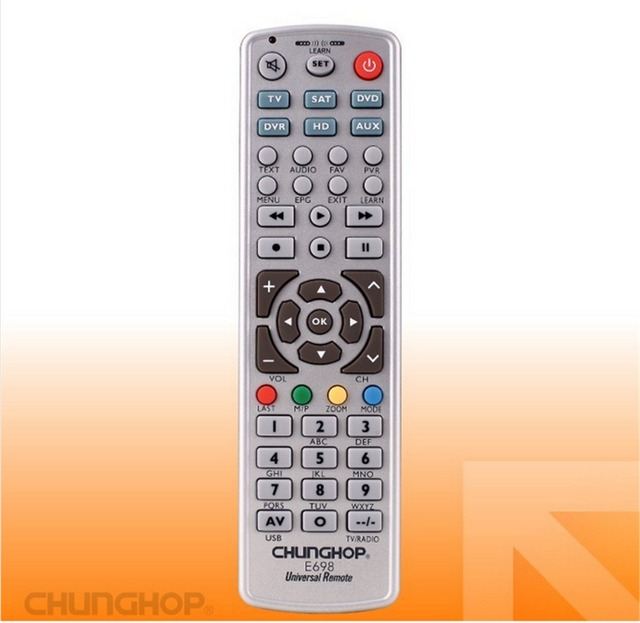 Combinational Remote Control Learn for TV SAT DVD CBL DVB T AUX CE Smart TV 3D Chunghop E698