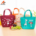 2016 Hot Sale Variety Girl Pattern Lunch Bag Lunchbox Women Handbag Oxford Picnic Bag Lunchbox For Kids Adult 4 Styles 40
