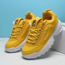 973bbf223b4 Fila Disruptor II Retro Shoes Women Yellow Sneakers Zapatos de mujer White  Blue Height Increasing Sports