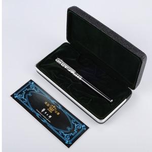 Image 2 - Шариковая Ручка роллер, высококачественные золотистые, синие, каменные и Серебристые, красные, черные чернила для ручки, подарочные ручки среднего размера, бесплатная доставка