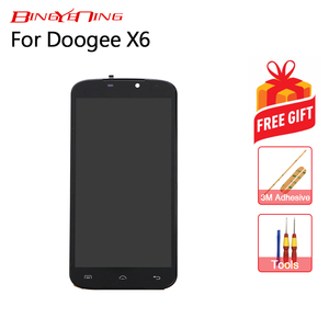 Image 2 - BingYeNing New Original For Doogee X6 Touch Screen + LCD Display+Frame Assembly Replacement