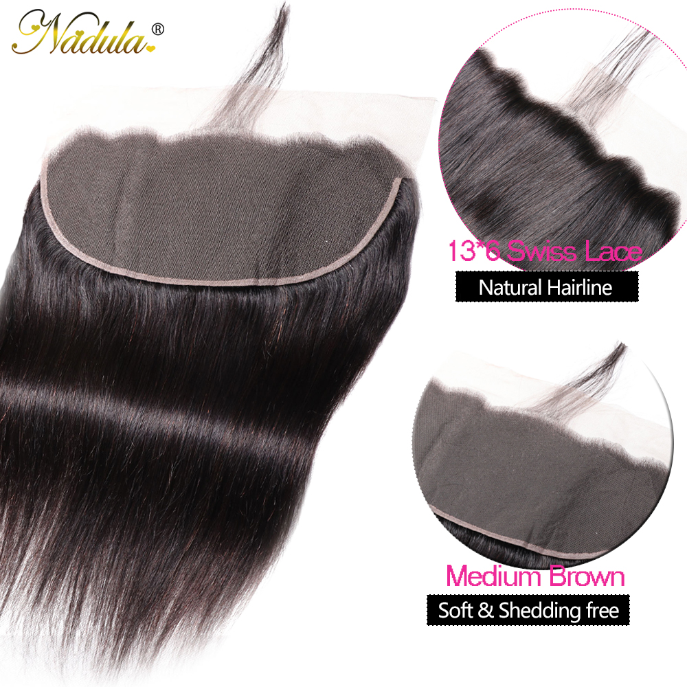 Nadula Hair 13x6 Lace Frontal Closure with Bundles Straight Hair Bundles With Frontal   Hair Bundles with Frontal 4