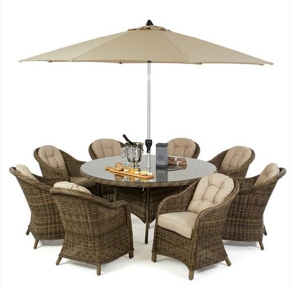Trade Urance Rattan 8 Seat Round Dining Set Outdoor Garden Furniture