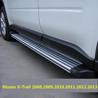 For Nissan X Trail 2008.2009.2010.2011.2012.2013 Running Boards Auto Side Step Bar Pedals High Quality Original Design Nerf Bars