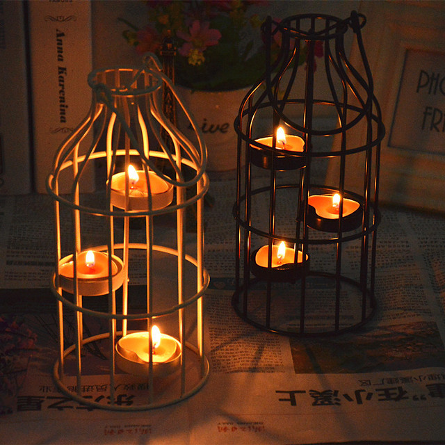 Moroccan Decor Metal Wall Hanging Candle Holder Wedding Decoration  Candlestick Candle Lantern Wedding Decorative Candle Stand