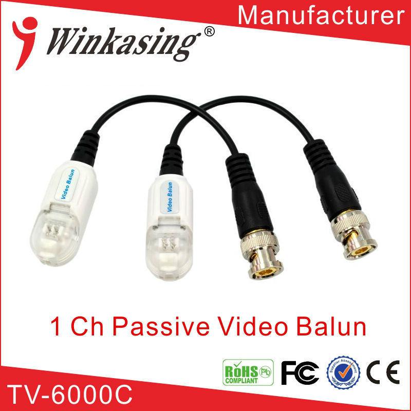 Single Channel Passive Video Balun lightning protection Passive Video Balun UTP Transivers/connector for cctv cameras 30PCS single channel passive video balun grey silver 2 pcs