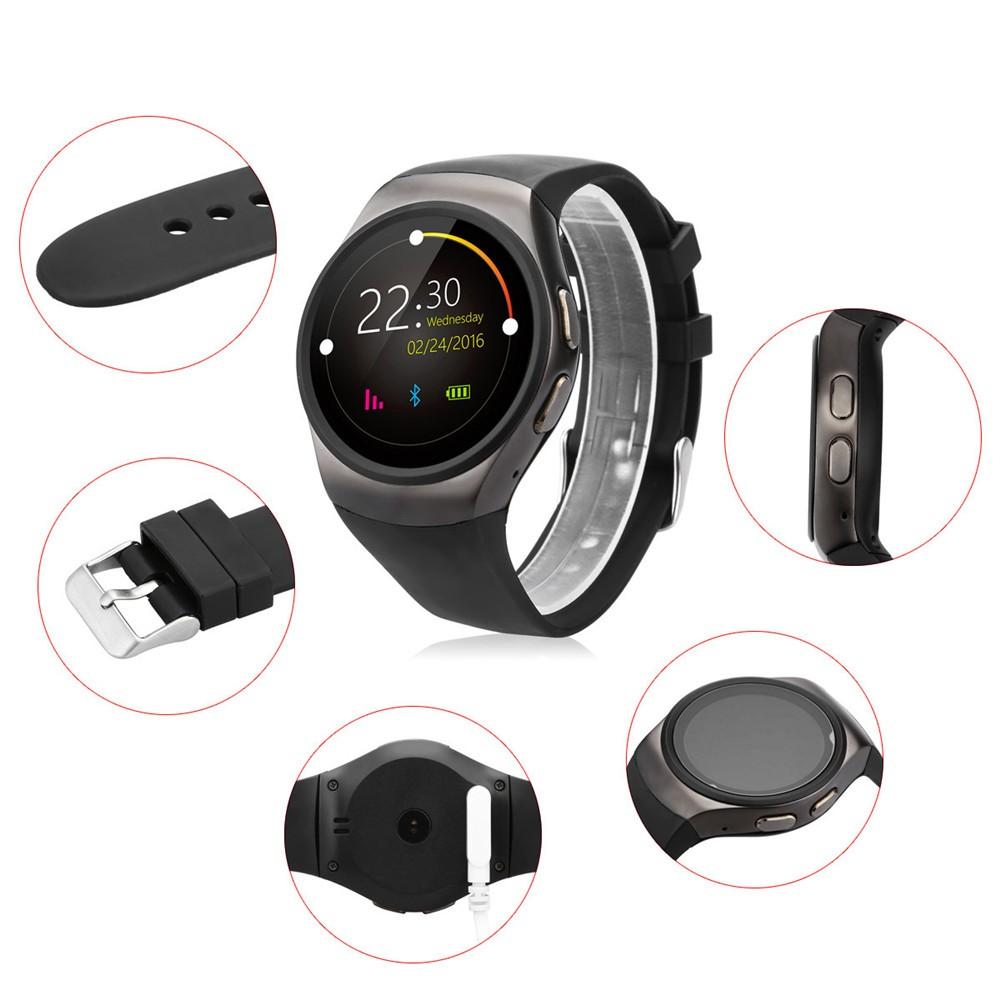 2016 New Product KW18 Smart Watch Android IOS Digital watch Bluetooth Reloj Inteligente SIM Round Heart Rate Monitor Watch Clock09