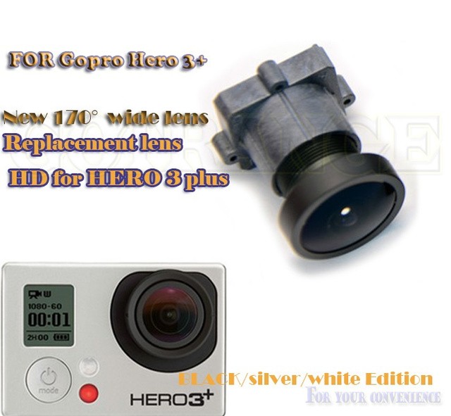 Us 17 99 10 Off 1600 Pixels 170 Degree Wide Angle Hd Lens Replacement For Gopro Hero 4 3 Hd4 Hero 3 Plus Black Silver White Edition Accessories In