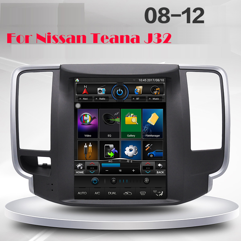 Вертикальный экран Тесла стиль Quad core Android 1024*600 9,7 inch Автомобильный gps навигации для Nissan teana J32 2008 2012