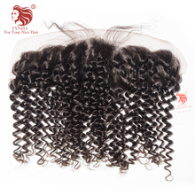 [FYNHA]Lace Frontal Closure Brazilian Kinky Curly Virgin Hair 13*4 Swiss Lace 100% Human Hair Free Shipping
