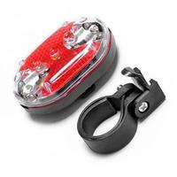 LumiParty 9 LED Bicycle Tail Light Safety Waterproof Warning Bike Bicycle Rear Tail Light with 7 Light Modes Red Color