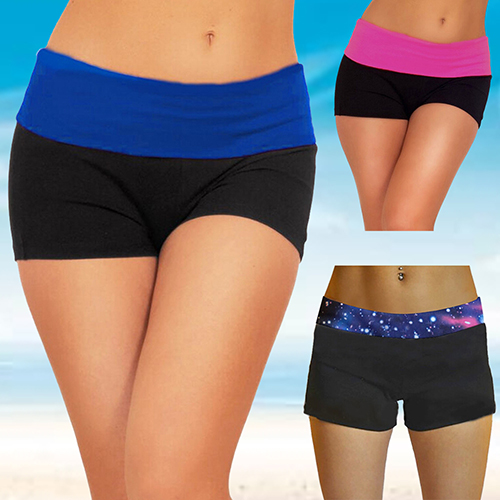 AB01-07 NEW 2018 Summer Women's Sexy Mini Knockout Exercise Workout Fitted Shorts