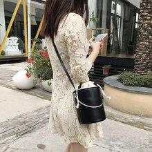 Fashion Bucket Bags for Women Beach Bags Women Leather Handbags Shoulder Messenger Bag Drawstring Brown Black Crossbody Bags Sac