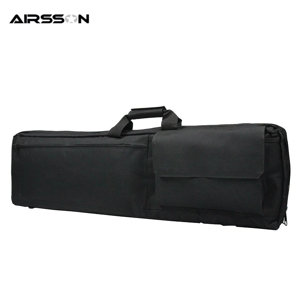 Airsson Hunting-gun Bag 100cm 38 Inch Padded Shockproof Rifle Carrying Shoulder Bag Military Shot Gun Waterproof Protecting Case 47 tactical hunting padded rifle sniper gun sling carrying case black