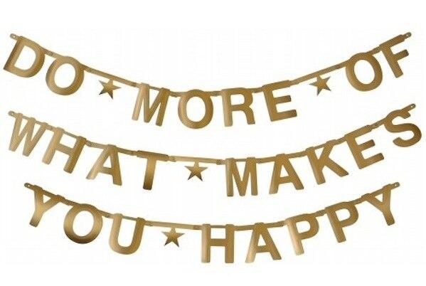 DIY Customizable Letters Symbols Banner Gold Banner Decoration Kit