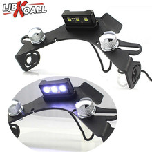 Aluminum Motorcycle Rear License Plate Mount Holder Bracket with White LED Light For Yamaha YZF R1 1000 2015 2016 2017 2018 цена