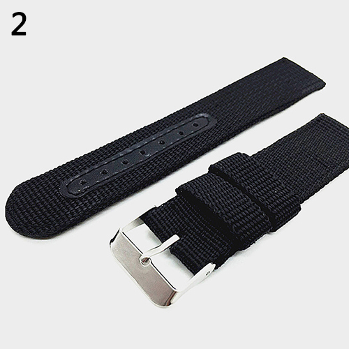 18mm/20mm/22mm/24mm Men's Military Nylon Wrist Watch Band Buckle Strap