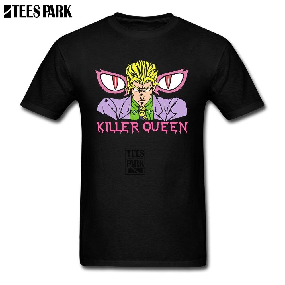 Оптовая продажа Yoshikage Кира футболка приключения Джоджо плотная футболки с круглым вырезом футболки нормальный подростков Шер рок футболки