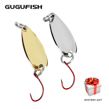 GUGUFISH 5PCS 1.3g/2g Fishing Lures Fishhooks Wobbler Spinner Baits Spoons Synthetic Bass Laborious Sequin Paillette Metallic Deal with