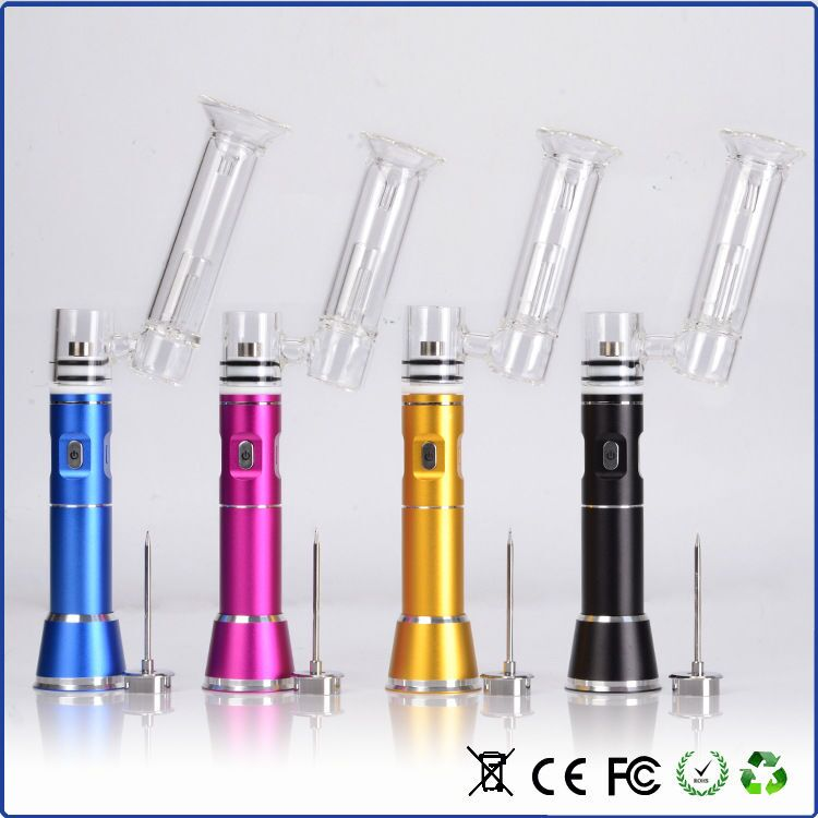 Colorful Electric ENAIL portable G9 wax pen henail Hnail dab rig with titaniumnail glass bubble attachment Enail kits