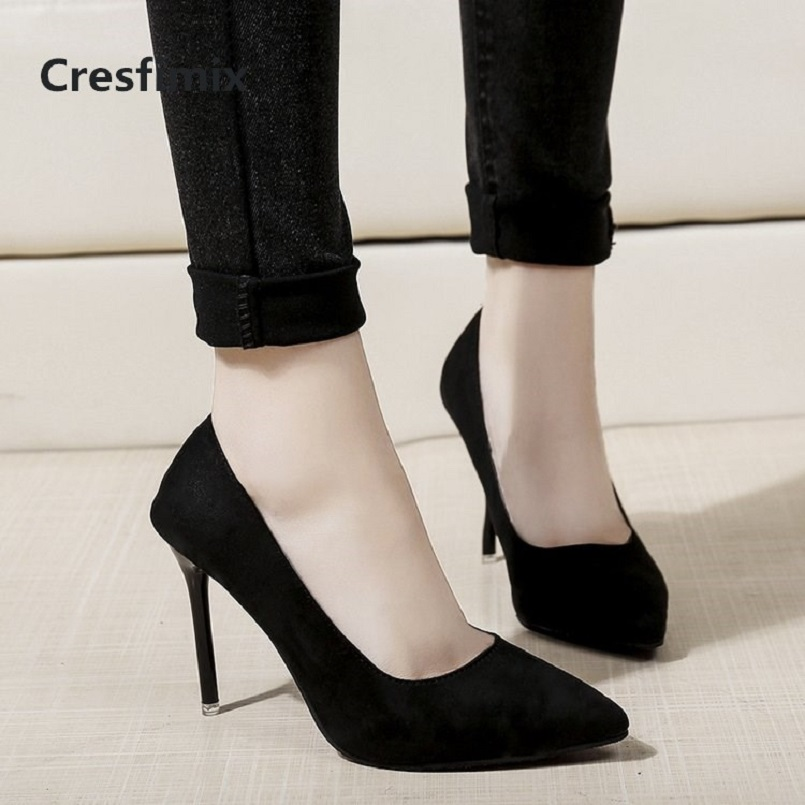 Cresfimix femmes hauts talons woman fashon classic office high heel shoes lady casual spring & summer slip on high heels a2914 cresfimix femmes hauts talons women fashion comfortable slip on pu leather high heel shoes lady cute sweet office shoes b2915