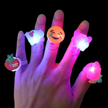 1/5/10pcs Luminous Rings Children's Toys Christmas Gifts LED Cartoon Lights Glow In The Dark Toys Childs Kids Playing In Night(China)