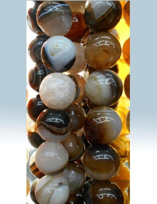 ②Púrpura redondo Cuentas moda cobardes de piedra natural 4 6 8 15 ...