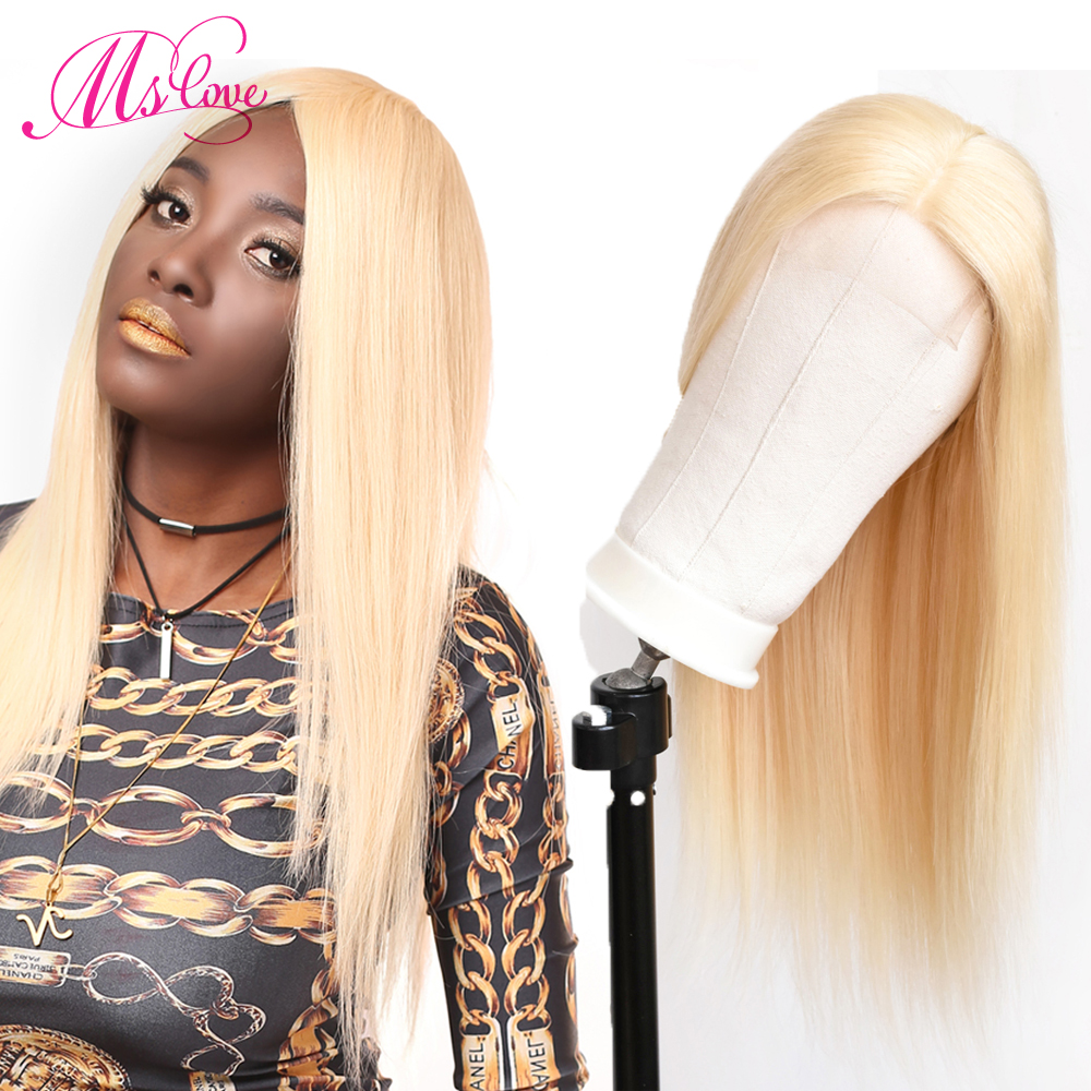 613 Lace Front Wig Blonde Lace Front Human Hair Wigs Straight Brazilian Wigs For Women Transparent
